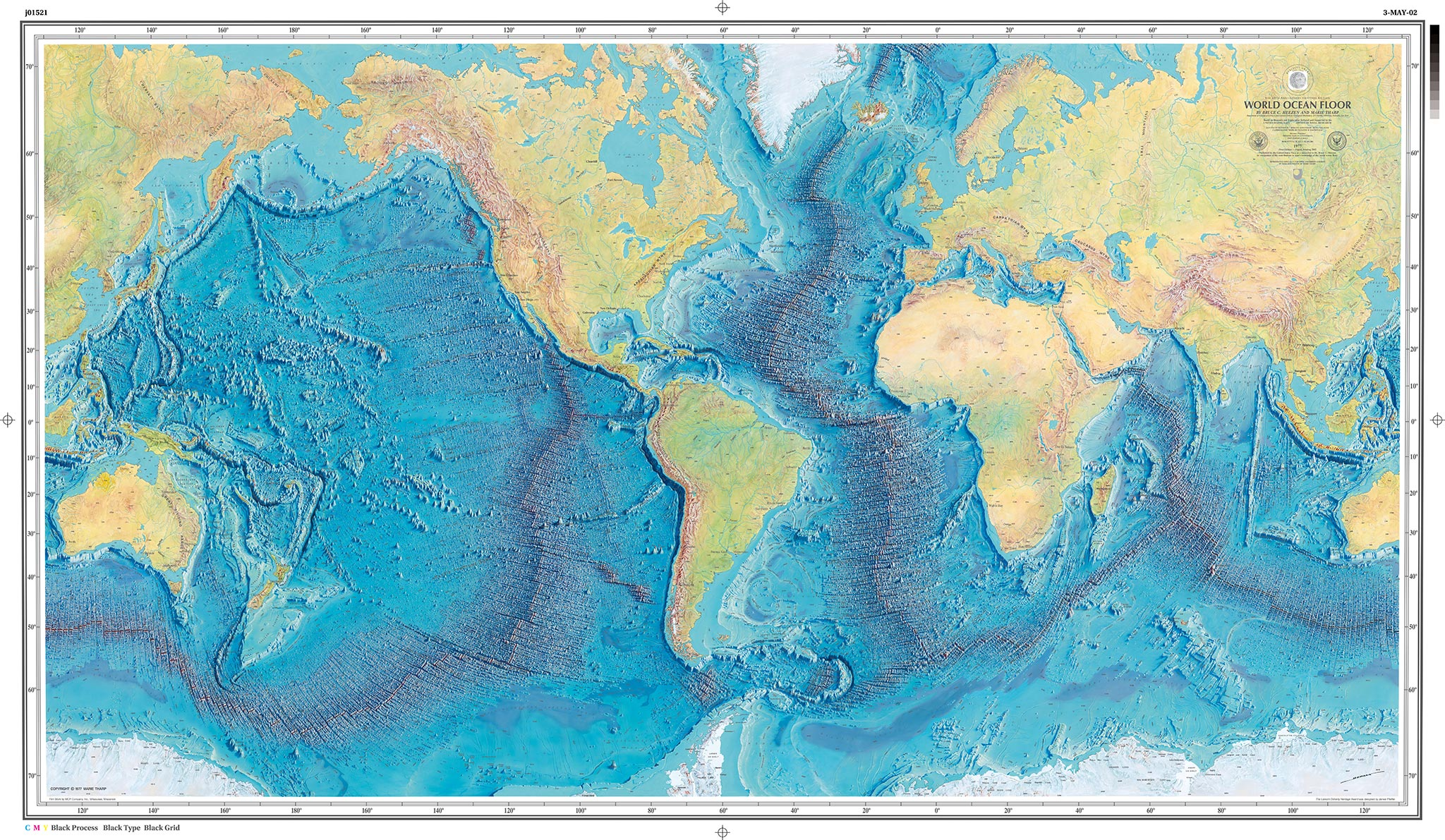 The First Map Of The Depths - Ocean depth map