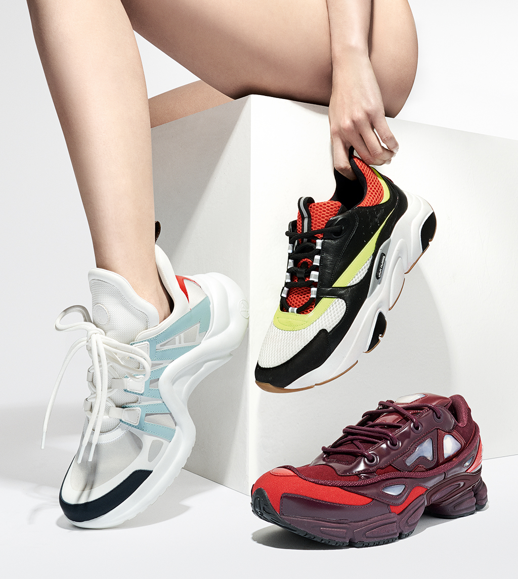 2146c4a49c29 LEFT TO RIGHT Archlight trainer in leather and rubber