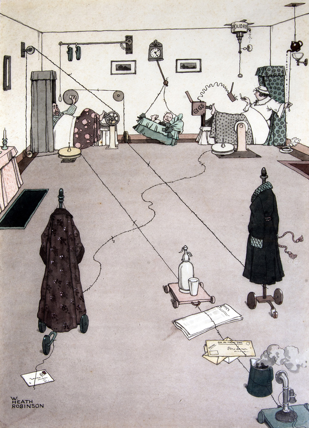 Absurdity and wonder: Heath Robinson at home | 1843