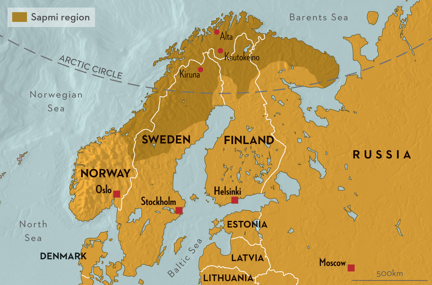 лапландия где она находится фото на карте