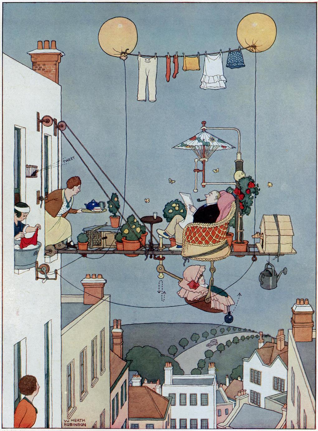 Absurdity and wonder: Heath Robinson at home | The Economist