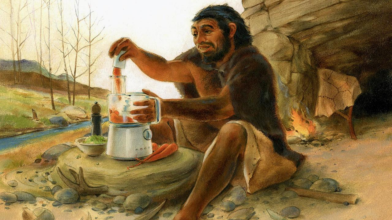 Image result for neanderthal cooking